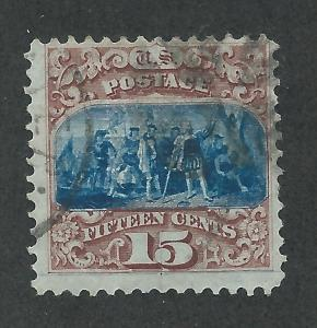 118 Used 15c. Pictorial,  Type I, scv: $850