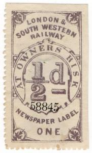 (I.B) London & South Western Railway : Newspapers ½d
