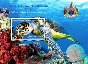 Stamps British Indian Ocean Territories (BIOT) -  Sea Turtle Issue - Mini SS Haw