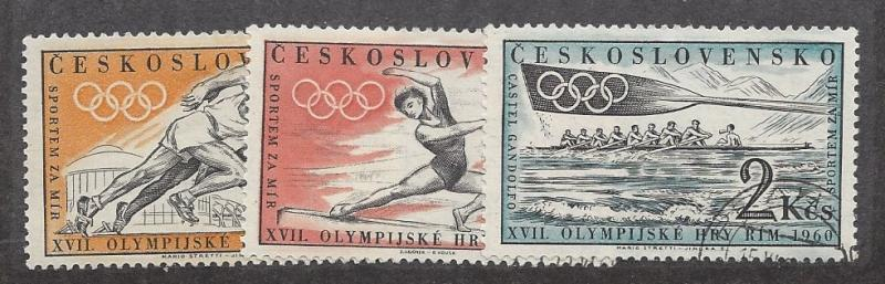 Czechoslovakia, 967-69, 17th Olympic Games - Rome CTO Singles, NH
