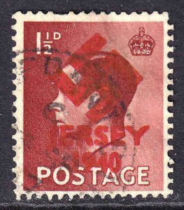 GREAT BRITAIN 1-1/2p LOCAL CHANNEL ISLANDS RED JERSEY OVERPRINT USED F/VF SOUND