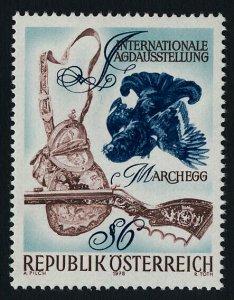 Austria 1078 MNH Hunting Exhibition, Bird, Rifle