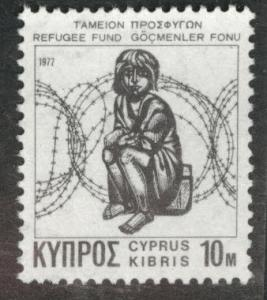 Cyprus Scott RA3 MNH** 1977 Refugee Fund