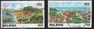 Malaysia Scott 228-229 Used Sabah set