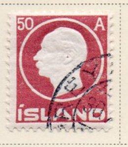 Iceland Sc 95 1912 50 aur Frederik VIII stamp used