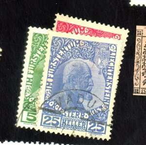 LIECHTENSTEIN #1A-3B USED FVF HR Cat $388