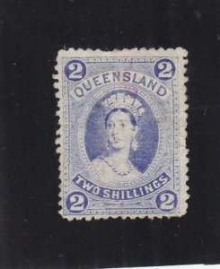 Australia: Queensland: Sc #74, MH, No Gum & Thin (35873)