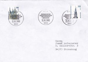 Germany 2001 Tourist Sights FDC VGC