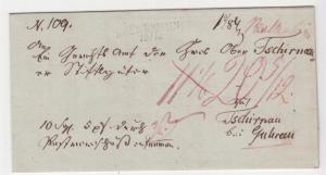 GERMANY, 1837 Entire, BOLKENHAIN ( Silesia) to Guhrau.