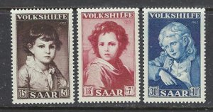 Saar B92-94 MNH 1952 set (ap7323)