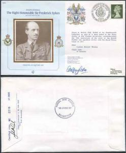 CDM2a RAF COMMANDERS SERIES Frederick Sykes Signed by Gp Capt G J Oxlee (K)