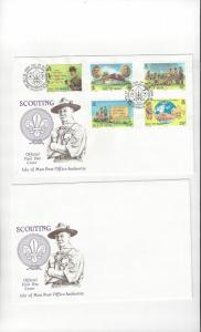 Isle of Man FDC 207-11  Scouting 1982 Official Cachet