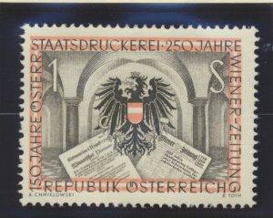 Austria Stamp Scott #598, Mint Hinged