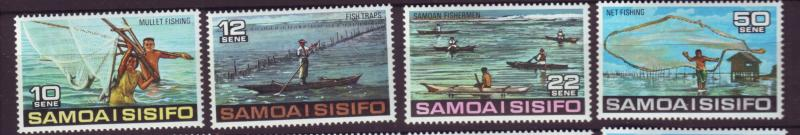 J29637 Jlstamps 1976 samoa set mnh #433-6 fishing