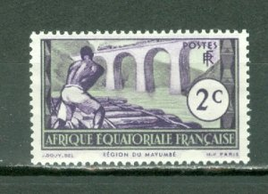 FRENCH EQUATORIAL AFRICA  1937  #34 MNH