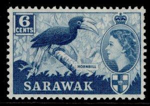SARAWAK QEII SG191, 6c greenish blue, M MINT.