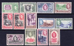 BRITISH HONDURAS 1938 KGVI PICTORIALS SET 13 MH SG 150/61