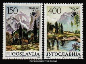 Yugoslavia Scott 1835-1836 Mint never hinged.