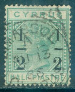 CYPRUS : 1886. Stanley Gibbons #29b VF, Used. Small '1' at right. Neat cancel