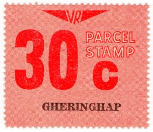 (I.B) Australia - Victoria Railways : Parcels Stamp 30c (Gheringhap)