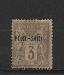 French Offices Abroad Port Said Scott # 3 ,Mint Hinged (FC-6)
