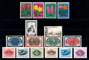 Luxembourg Luxemburg 1955 Complete Year Set MNH