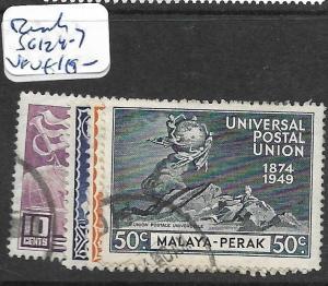MALAYA PERAK (P1201B) UPU SG 124-7  VFU