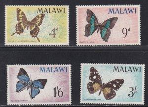 Malawi #  37-40, Butterflies, NH, 1/2 Cat.