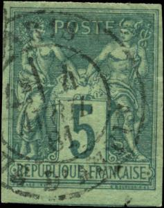 France Scott #78a Used  Imperf