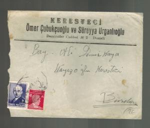 1942 Denizli to Burdur Turkey Cover