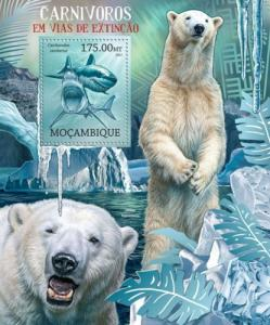 Mozambique MNH S/S Endangered Polar Bears 2012