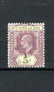 Sierra Leone 1905 5d FU CDS