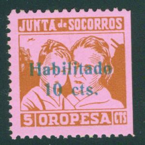 SPAIN Civil War Republic Oropesa lablel GG1009 MH*