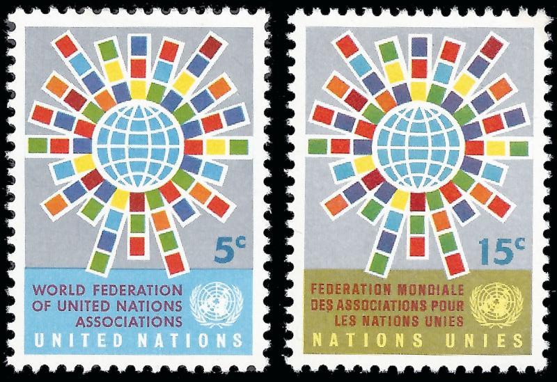 United Nations NY 1966 Sc 154-55 MVLH