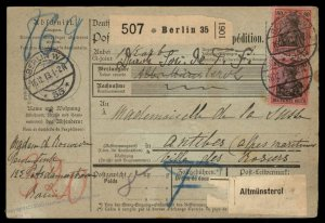Germany 1913 Deutsches Reich Germania Wmk Cover 95987