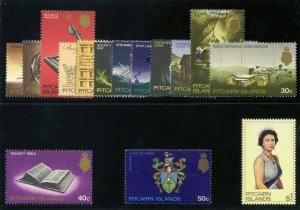 Pitcairn Islands 1969-75 QEII Definitives set complete superb MNH. SG 94-106b.