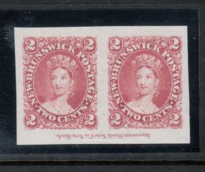 New Brunswick #7TC Extra Fine Proof Pair Showing Full ABN Imprint