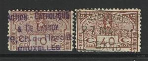 Belgium 2 Revenues, Used, Hinge Rem, 10c has vertical crease, see notes - S5084