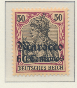 Germany, Offices In Morocco Stamp Scott #27, Mint Hinged - Free U.S. Shipping...