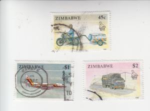 Zimbabwe 629-631 used