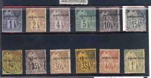 Guadeloupe, 14/26, Overprinted Singles,**Used/H**