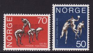 Norway #566-67 F-VF Mint Hinged * Gymnastics School