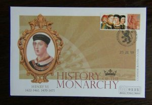 Great Britain 2008 History of the Monarchy Henry VI Cover