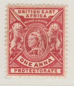 British Colony East Africa KUT 1896 1a Bright Rose Red MH* Stamp A22P18F8913