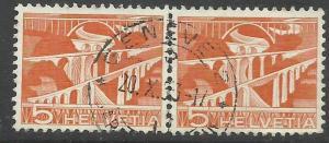 SWITZERLAND SUISSE SCHWEIZ SVIZZERA HELVETIA 1949 VIADUCTS VIADOTTI CENT. 5c ...