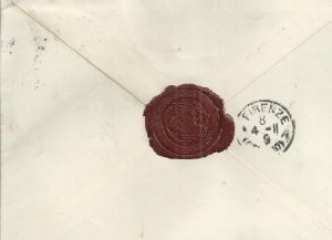LUXEMBOURG 1911 - COVER TO ARCHBISHOP OF FLORENCE ,ITALY - POSTALLY USED