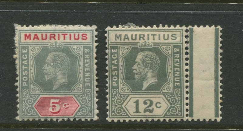 STAMP STATION PERTH Mauritius #152-153 KGV Definitive Mint CV$14.00