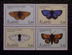 Finland - Aland Islands Scott #78-81 mnh