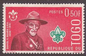 Togo 401 Hinged 1961 Daniel C. Beard
