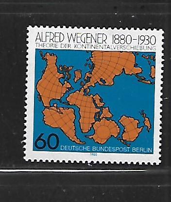 BERLIN, 9N451, MNH, WORLD MAP